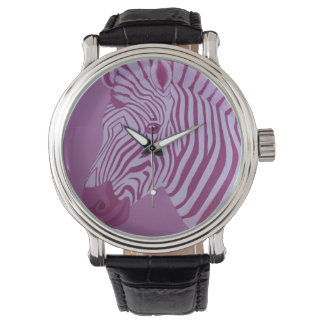 Magenta Zebra Watch