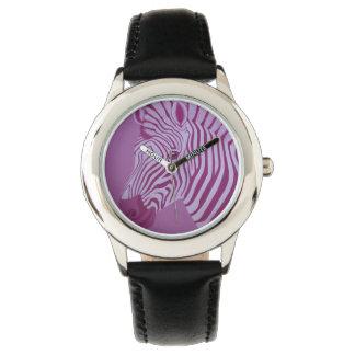 Magenta Zebra Watch