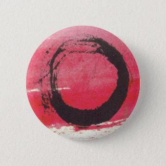 Magenta Zen Circle 6 Cm Round Badge