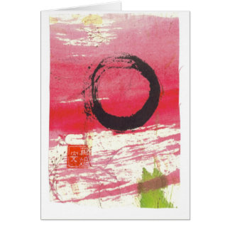 Magenta Zen Circle Greeting Card