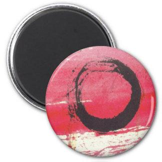 Magenta Zen Circle Magnet