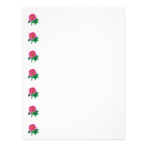 Magenta Zinnia With Leaves Personalized Flyer