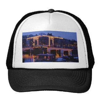 "Magere Brug, ""Skinny Bridge"", double-leaf drawbrid Mesh Hats"