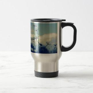 Magerieten Sommerwiese mit Wolken Himmel Kaffeetasse