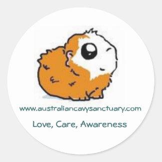 mages, www.australiancavysanctuary.com, Love, C... Round Stickers