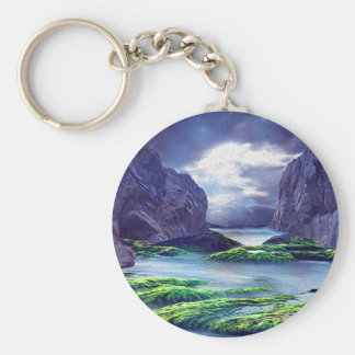 Magestic Beauty Basic Round Button Key Ring