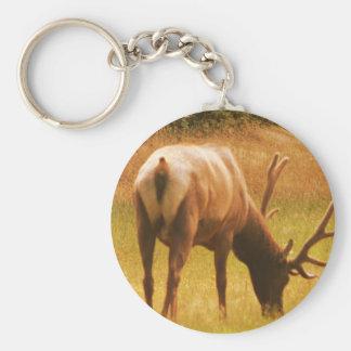 Magestic Bull Elk Keychain