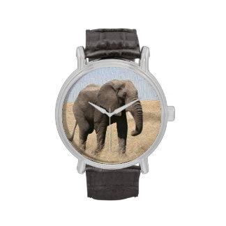 Magestic Elephant Vintage Black Wrist Watch