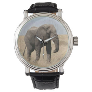 Magestic Elephant Vintage Black Wrist Watch