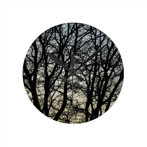 Magestic Tree Closeup Clock