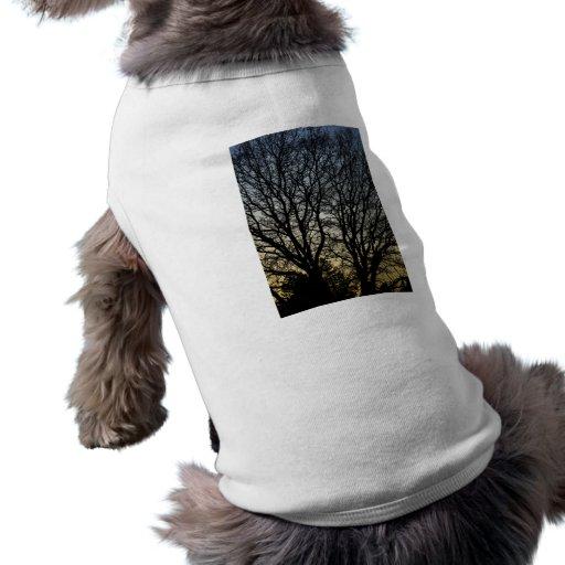 Magestic Tree Closeup Dog Tee Shirt
