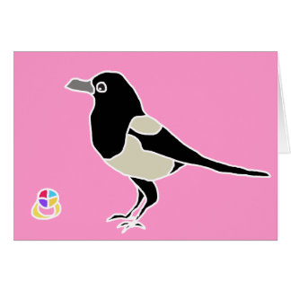 Maggie the magpie card