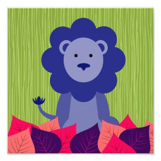 Maggie's Menagerie Nursery Prints: Lavendar Lion Art Photo