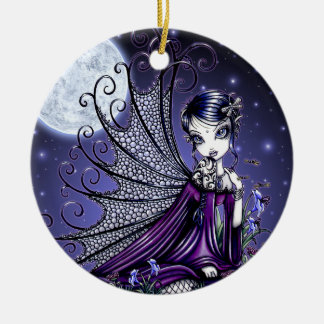 """Maggy"" Gothic Moon Fairy Ornament"