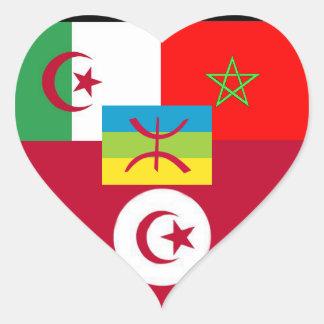 maghreb united heart sticker