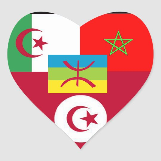 maghreb united heart sticker