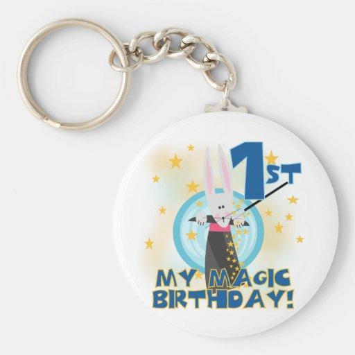 Magic 1st Birthday Tshirts and Gifts Key Chains
