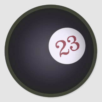 Magic 23 Ball of Chaos In The Universe Classic Round Sticker