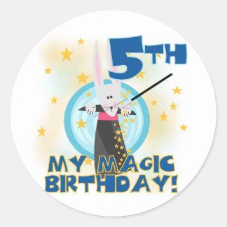 Magic 5th Birthday Tshirts and Gifts Classic Round Sticker