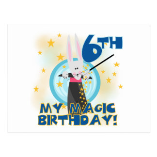 Magic 6th Birthday Tshirts and Gifts Post Cards