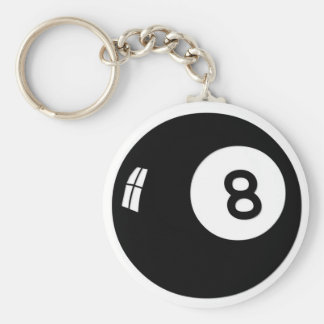 Magic 8 Ball Basic Round Button Key Ring