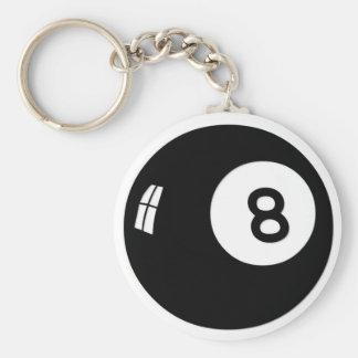 Magic 8 Ball Basic Round Button Key Ring