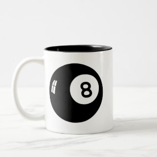 Magic 8 Ball Two-Tone Coffee Mug
