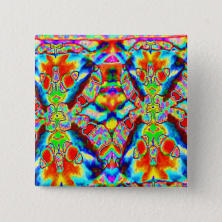 Magic alien patterns 15 cm square badge