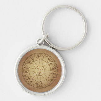 Magic Amulet for Safe Travel Magic Charms Silver-Colored Round Key Ring