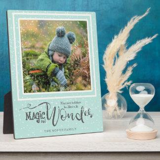 Magic and Wonder Christmas Photo Mint ID440 Plaque