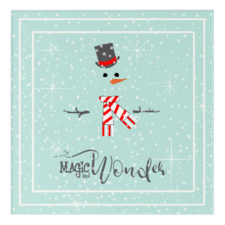 Magic and Wonder Christmas Snowman Mint ID440 Acrylic Print