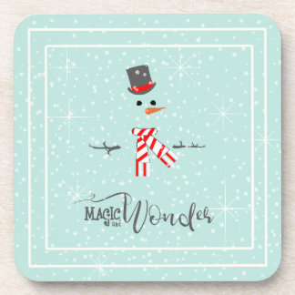 Magic and Wonder Christmas Snowman Mint ID440 Coaster