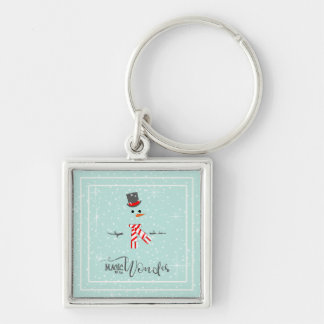 Magic and Wonder Christmas Snowman Mint ID440 Key Ring