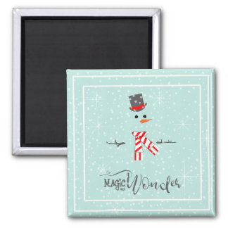Magic and Wonder Christmas Snowman Mint ID440 Magnet