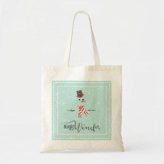 Magic and Wonder Christmas Snowman Mint ID440 Tote Bag