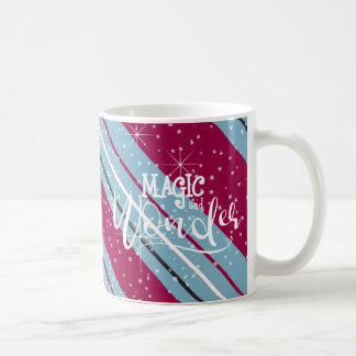 Magic and Wonder Christmas Stripes Blue ID440 Coffee Mug