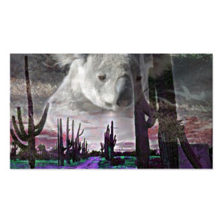 Magic Animals KOALA Double-Sided Standard Business Cards (Pack Of 100)