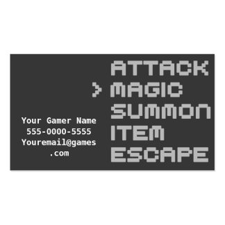 Magic Attack Video Game Gamer Business Cards