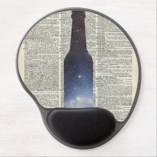 Magic Beer Space over Dictionary book page Gel Mouse Pad