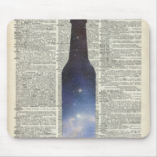 Magic Beer Space over Dictionary book page Mouse Pad