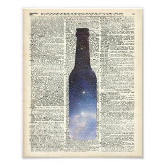 Magic Beer Space over Dictionary book page Art Photo