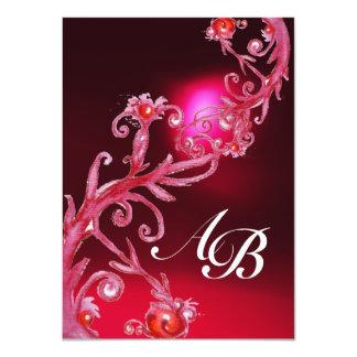 MAGIC BERRIES 4,MONOGRAM red burgundy Announcements