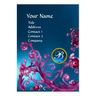 MAGIC BERRIES MONOGRAM GEM sapphire blue Business Card Templates