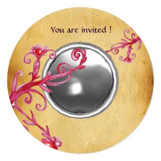 MAGIC BERRIES PARCHEMENT GEM moonlight 13 Cm X 13 Cm Square Invitation Card