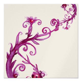 MAGIC BERRIES, purple white metallic  gold Custom Invitations