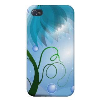 Magic Blue flower I- iPhone 4 Covers