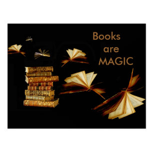 Magic books postcard