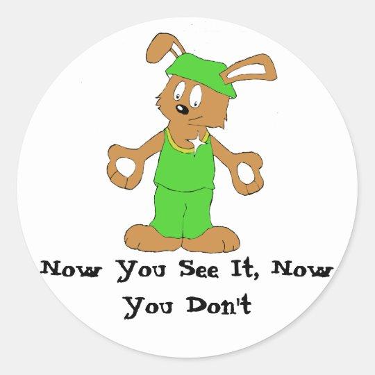 Magic Brawl Magician Rabbit Classic Round Sticker