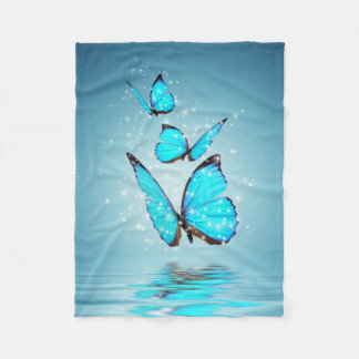 Magic Butterflies Small Fleece Blanket