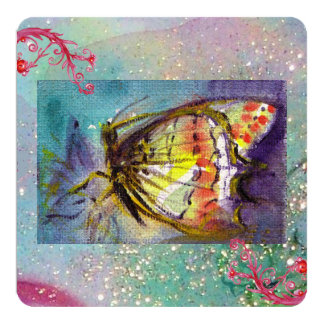 MAGIC BUTTERFLY 13 CM X 13 CM SQUARE INVITATION CARD